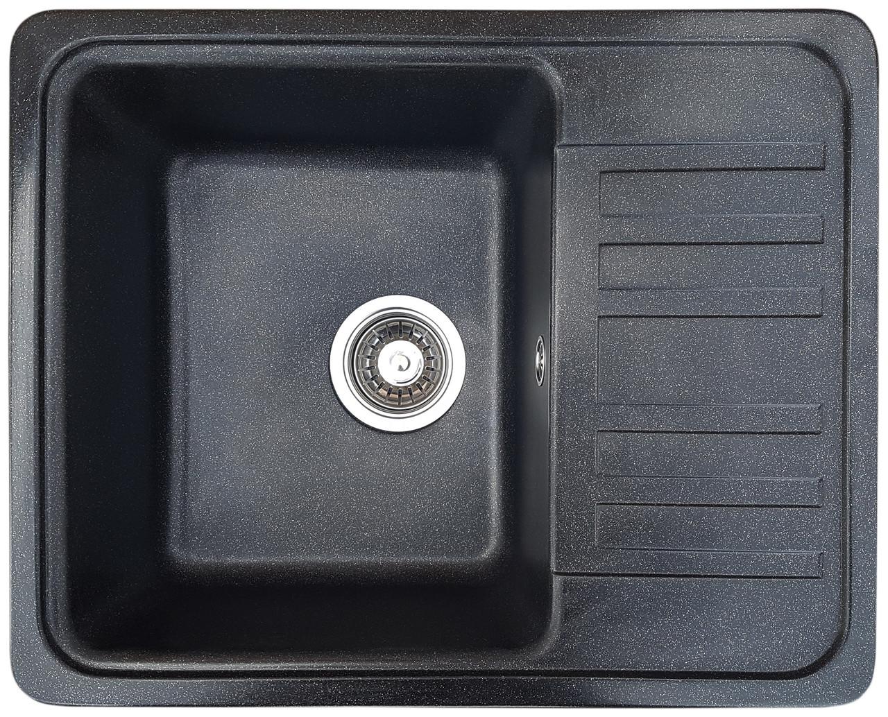 Гранитная мойка Valetti Europe модель №9 черная 57*46