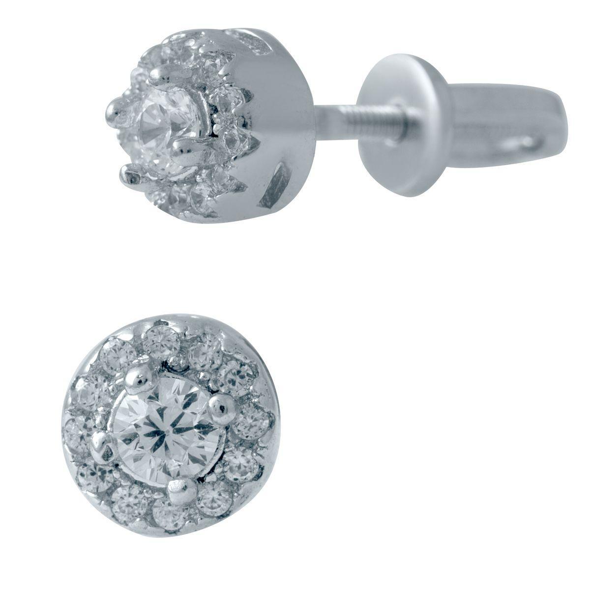 Серебряные серьги DreamJewelry с фианитами (2036487)