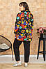 Стильный трикотажный  костюм большого размера с 50 по 64 р-ры, фото 3