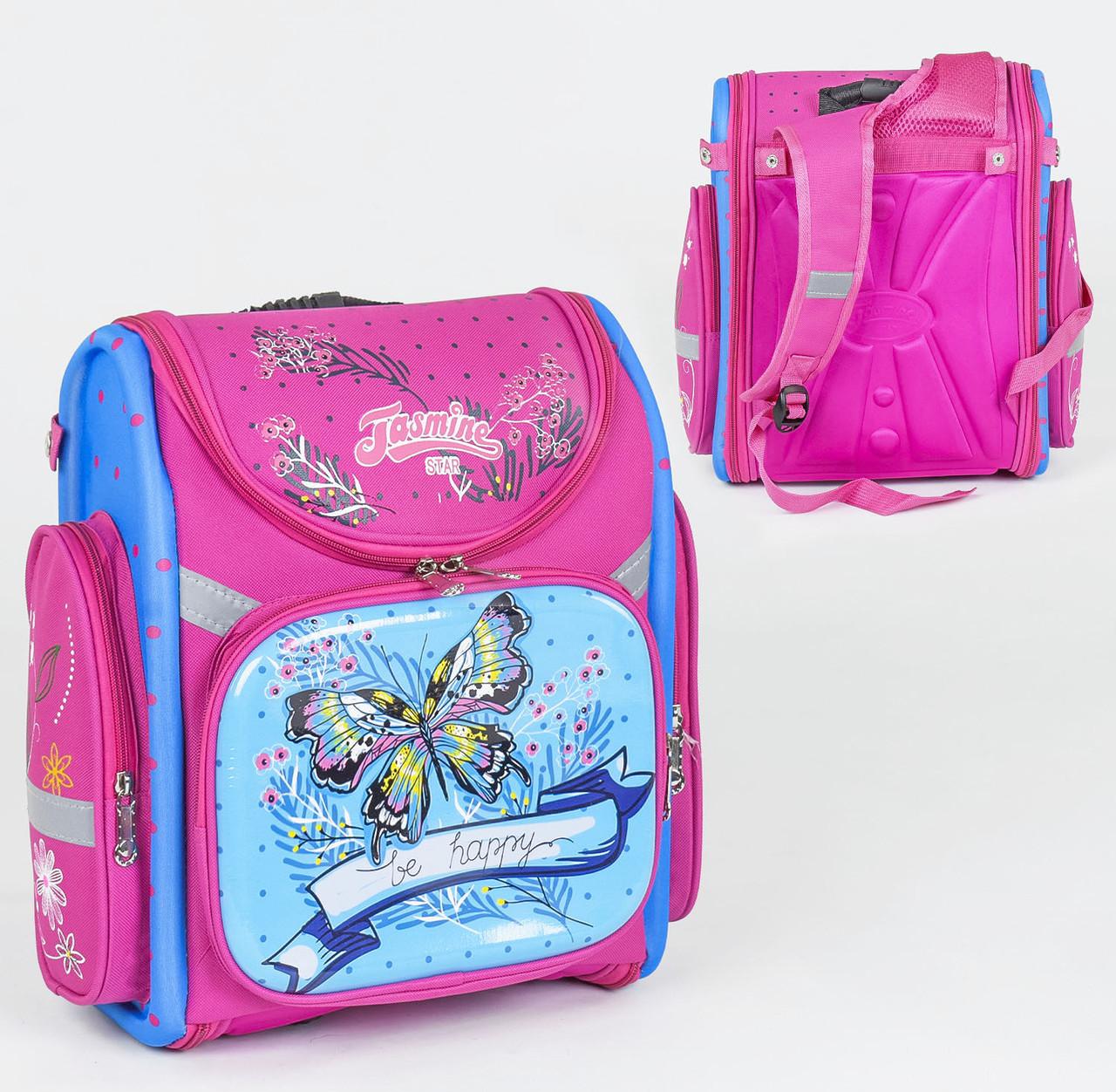 Рюкзак шкільний каркасний 1 відділення, 3 кишені, ортопедична спинка, 3D принт.
