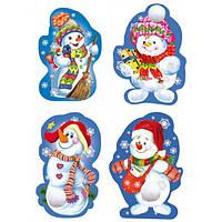Набор новогодних декоративных элементов: Снеговик новогодний, фото 1