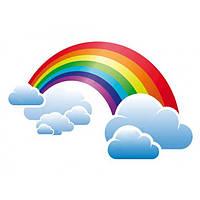 Декоративний елемент: Веселка з хмарою