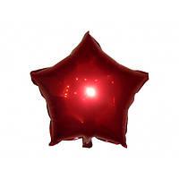 """Шарик фольгированный """"Звезда красная"""" диаметр 45 см (Китай)"""