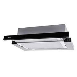 Витяжка Ventolux GARDA 60 XBG (750) SMD LED Телескопічна, Нержавіюча сталь/Скло