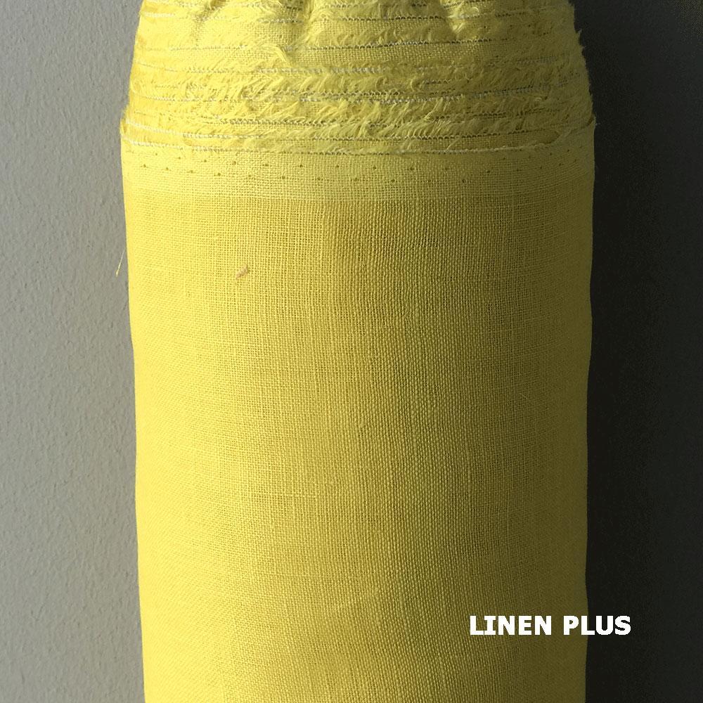 Жовта лляна тканина, LINEN PLUS, 100% бавовна, Щільність 85 г/м2 (02129-495)