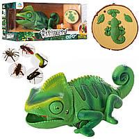 """Інтерактивна іграшка хамелеон 8888, """"їсть комашок"""", 28 см, на радіокеруванні"""