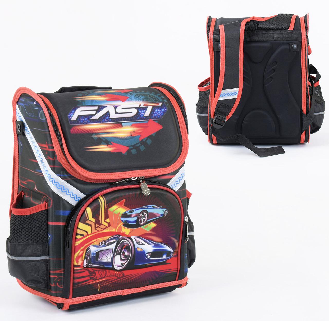 + Подарок Рюкзак школьный каркасный 1 отделение, 3 кармана, спинка ортопедическая, 3D изображение