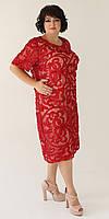 Нарядное стильное женское платье большого размера 56-62