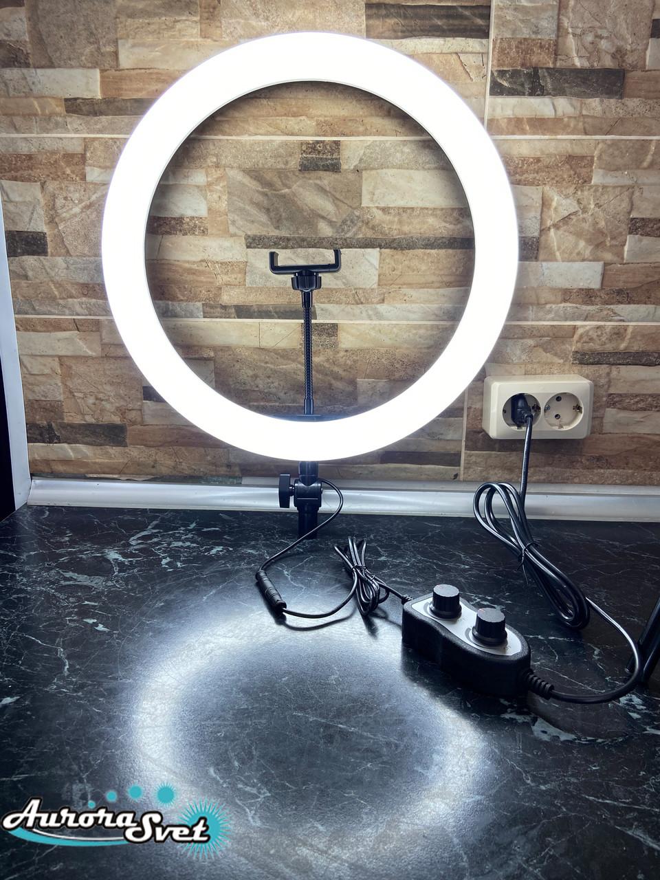 Световое кольцо 40см. Профессиональная кольцевая лампа 280 светодиодов. 36вт.