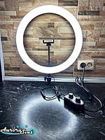 Світлове кільце 40см. Професійна кільцева лампа 280 світлодіодів. 36вт.