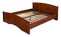 Кровать ортопедическая Нега (плюс) (металлический каркас) МАКСИ-МЕбель (1900 х 1400) Орех темный (8528)
