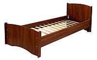 Кровать ортопедическая Нега (плюс) (металлический каркас) МАКСИ-МЕбель (1900 х 800) Орех темный (8532)