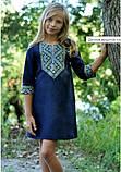 Детское платье прямого кроя из льна, фото 4