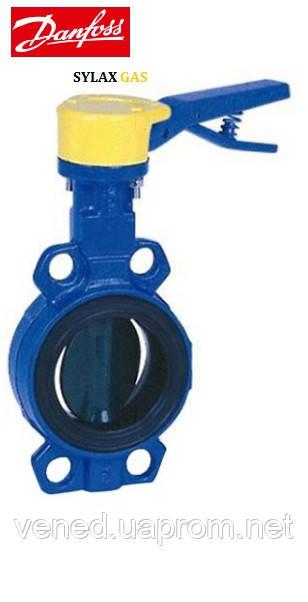 Поворотні заслінки Данфосс SYLAX GAS DN100 з центруючими вушками, PN6 бар, для природного газу, з ручкою