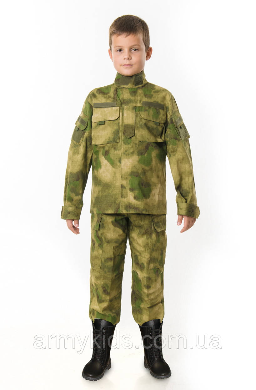Костюм детский Киборг для мальчиков цвет камуфляж A-TACS копия взрослого костюма
