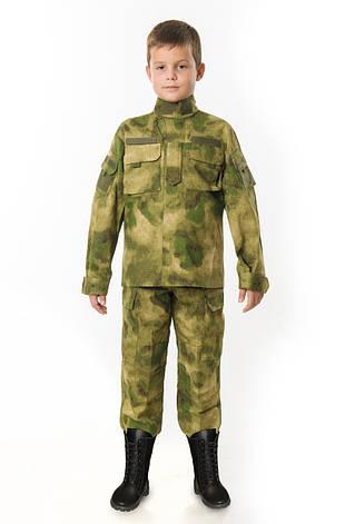 Костюм детский Киборг для мальчиков цвет камуфляж A-TACS копия взрослого костюма, фото 2