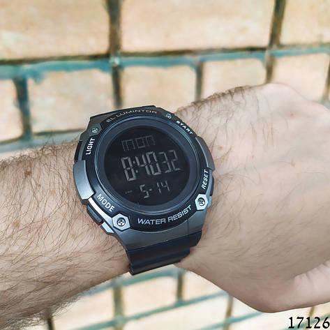 Чоловічі наручні годинники чорні Skmei спортивні електронні. Годинник чоловічий, фото 2