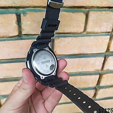 Чоловічі наручні годинники чорні Skmei спортивні електронні. Годинник чоловічий, фото 3