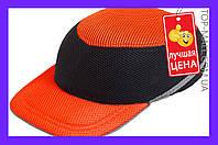Каска-бейсболка ударопрочная Vita - оранжево-чёрная артикул-PK-0011