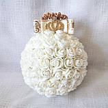 Декоративные шары из роз на подставке айвори для интерьера или свадьбы, фото 3