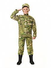 Костюм детский Киборг для мальчиков цвет камуфляж Мультикам копия военного костюма, фото 3