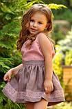 Детский топик и юбка с вышивкой для девочки, фото 2