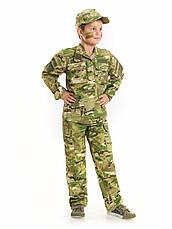 Костюм детский Киборг для мальчиков цвет камуфляж Мультикам копия военного костюма, фото 2