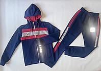 Спортивный детский костюм для девочек, светоотражающий Тік Ток, синего цвета