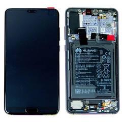 Дисплей Huawei P20 pro Charlotte-L29C Черный 02351WQK