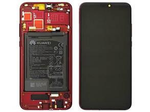 Дисплейный модуль красный с аккумулятором и динамиком голосовым для телефона Honor 8X 02352EEN
