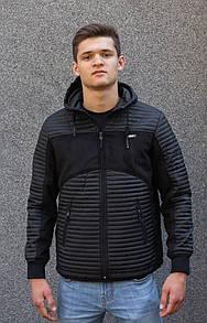 """Стильна чоловіча куртка демісезонна з капюшоном """"Рассел"""""""