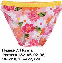"""Плавки для девочки """"цветы"""""""