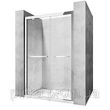 Душевая дверь Rea Move Safe Glass 120x195 безопасное стекло, прозрачное (REA-K7416)