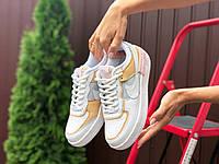 Женские кроссовки Nike Air Force белые. Стильные кроссовки женские белого цвета. , фото 1