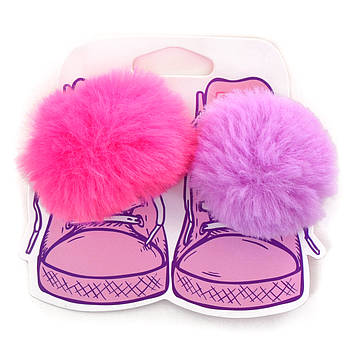 Набор аксессуаров для шнурков YES Вushy Фиолетовый с розовым (555838)