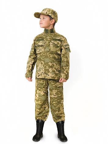 Детский военный костюм для мальчиков Киборгт камуфляж Пиксель, фото 2