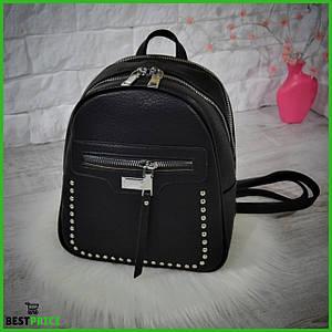 Женский рюкзак-сумка City на два отделения .Черный