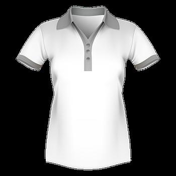 Женская футболка поло для сублимации, белый/серый