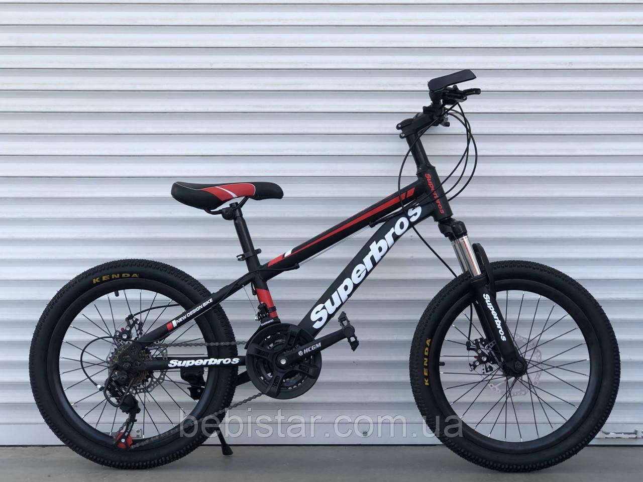 """Спортивный велосипед TopRider 20 дюймов красный 21 скорость металлическая рама12"""" детям от 5 лет рост от 115см"""