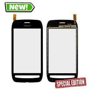 Сенсор (тачскрін) для Nokia 710 Lumia чорний, фото 2