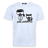Футболка мужская белая KARL LAGERFELD с принтом №3 Ф-10 WHT XXL(Р) 20-837-021