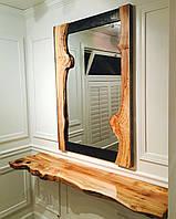 Зеркало с рамой из слэба дерева