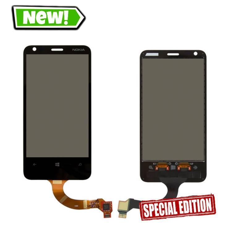 Сенсор (тачскрін) для Nokia 620 Lumia (rev.3) чорний