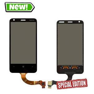 Сенсор (тачскрін) для Nokia 620 Lumia (rev.3) чорний, фото 2