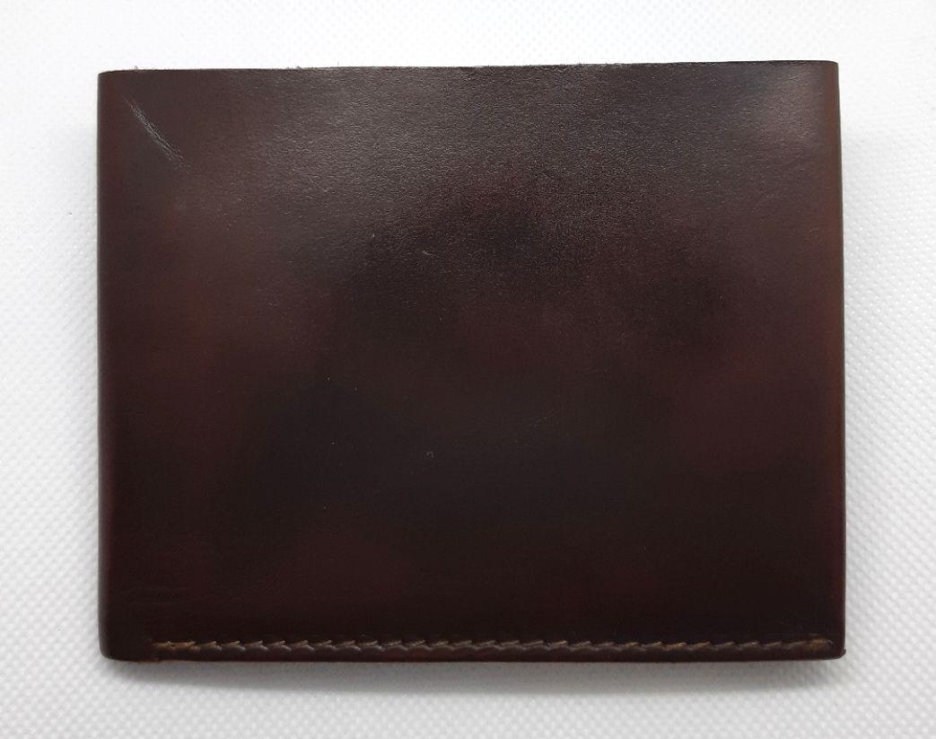 """Кошелек мужской кожаный компактный на внутренней кнопке """"Классик"""". Цвет коричневый"""