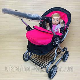 Коляска для кукол длина 59см, высота 75см в трех цветах Melogo 9680