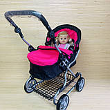 Коляска для кукол длина в трех цветах Melogo 9680, фото 5