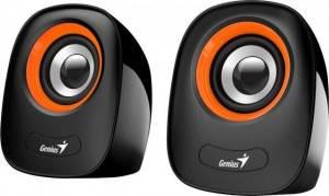 Акустична система (Колонки) Genius 2.0 SP-Q160 USB Оранжевий, фото 2