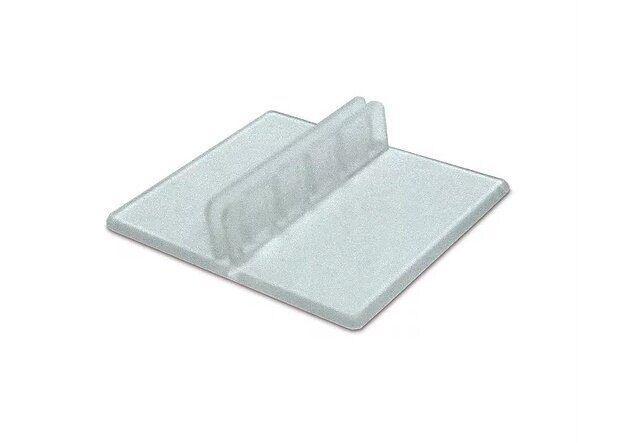 Подставка-держатель для ценника прозрачного цвета 90°