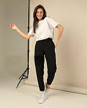 Женские штаны батал, двунить, р-р 50-52 (чёрный)